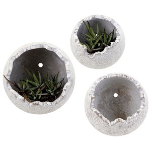 IMAX Worldwide Home Pots and Planters Oliver Wall Flower Pots - Set of 3