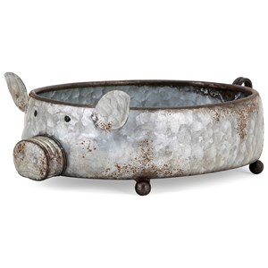 IMAX Worldwide Home Pots and Planters Piggy Planter
