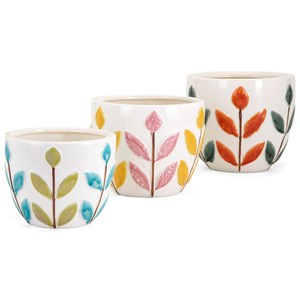 IMAX Worldwide Home Pots and Planters Bliss Ceramic Planters - Set of 3
