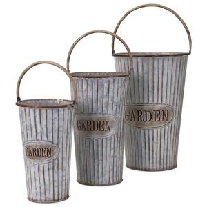 IMAX Worldwide Home Pots and Planters Jaden Metal Flower Pots - Set of 3