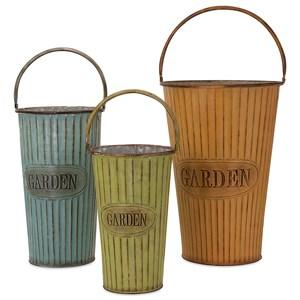 IMAX Worldwide Home Pots and Planters Alden Metal Flower Pots - Set of 3