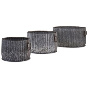 IMAX Worldwide Home Pots and Planters Maurer Galvanized Planters - Set of 3