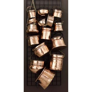 IMAX Worldwide Home Pots and Planters 15-Piece Old Copper Planter Assortment