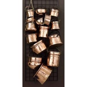 15-Piece Old Copper Planter Assortment