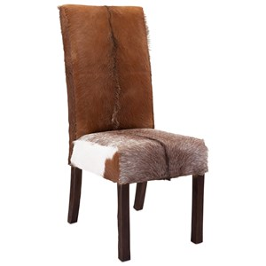 IMAX Worldwide Home Seating Andros Animal Hide Dining Chair