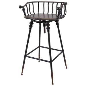 IMAX Worldwide Home Seating Crestly Metal Bar Chair
