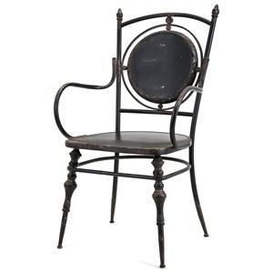 IMAX Worldwide Home Seating Beric Metal Arm Chair