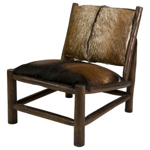 IMAX Worldwide Home Seating Pacino Animal Hide Accent Chair