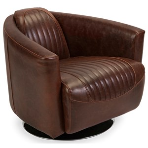 IMAX Worldwide Home Seating Adler Leather Retro Chair