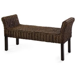 IMAX Worldwide Home Seating Caspian Woven Bench