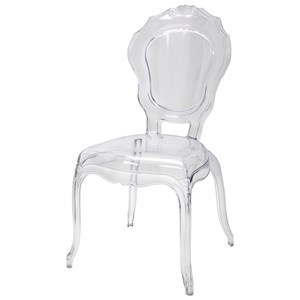 IMAX Worldwide Home Seating Loxley Transparent Side Chair