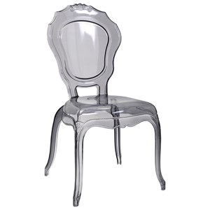 IMAX Worldwide Home Seating Fidora Transparent Gray Side Chair
