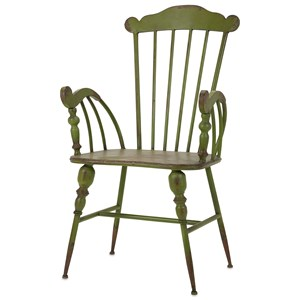 IMAX Worldwide Home Seating Trenton Green Metal Arm Chair