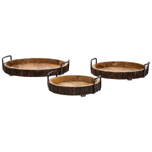 IMAX Worldwide Home Trays, Plates, and Platters Damari Wood Trays - Set of 3