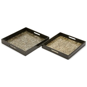 IMAX Worldwide Home Trays, Plates, and Platters Jacobs Mother of Pearl Serving Trays - Set o