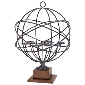 IMAX Worldwide Home Trisha Yearwood Cowboy Armillary Candleholder
