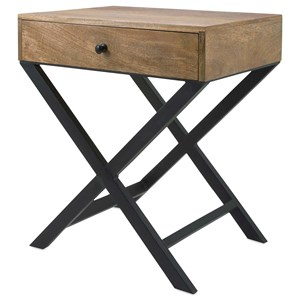 IMAX Worldwide Home Trisha Yearwood Persimmon X-Leg Side Table