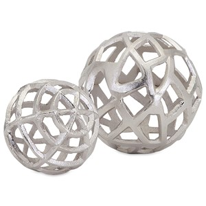 IMAX Worldwide Home Trisha Yearwood Outer Banks Spheres - Set of 2