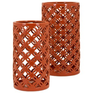 IMAX Worldwide Home Trisha Yearwood Persimmon Vases - Set of 2
