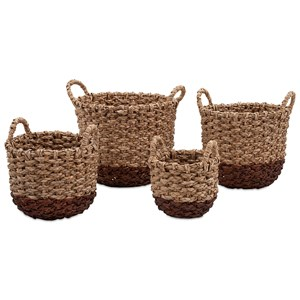 IMAX Worldwide Home Trisha Yearwood Persimmon Woven Baskets - Set of 4