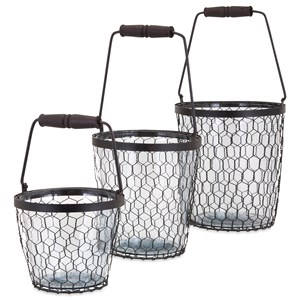 IMAX Worldwide Home Trisha Yearwood Honeybee Glass Buckets - Set of 3