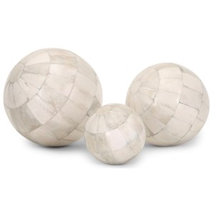 IMAX Worldwide Home Trisha Yearwood Cowboy Natural Bone Spheres - Set of 3