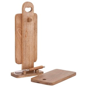 IMAX Worldwide Home Trisha Yearwood Persimmon Twin Cutting Boards with Stand and