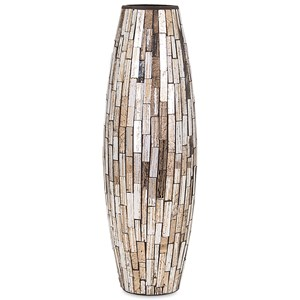 IMAX Worldwide Home Trisha Yearwood Persimmon Small Mosaic Vase