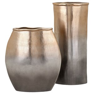 IMAX Worldwide Home Trisha Yearwood New Frontier Large Aluminum Vase