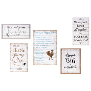 IMAX Worldwide Home Trisha Yearwood Songbird Inspirational Wall Decors - Set of