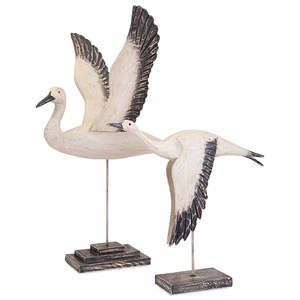IMAX Worldwide Home Trisha Yearwood Outer Banks Birds in Flight - Set of 2