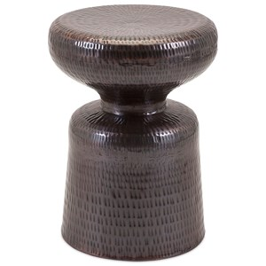 IMAX Worldwide Home Trisha Yearwood Cowboy Hammered Metal Stool