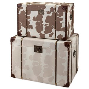 IMAX Worldwide Home Trisha Yearwood Cowboy Storage Trunks - Set of 2