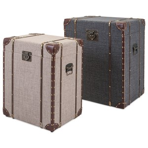 IMAX Worldwide Home Trisha Yearwood Outer Banks Storage Trunks - Set of 2