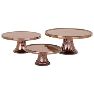 IMAX Worldwide Home Trisha Yearwood Persimmon Cake Stands - Set of 3