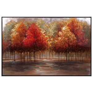 IMAX Worldwide Home Trisha Yearwood Persimmon Oil Painting with Frame