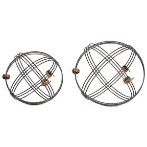 IMAX Worldwide Home Trisha Yearwood Cowboy Wire Deco Balls - Set of 2