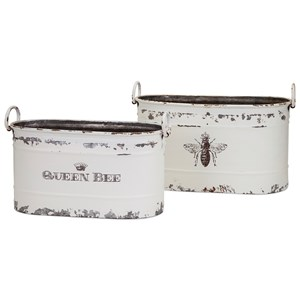 IMAX Worldwide Home Trisha Yearwood Queen Bee Tubs - Set of 2