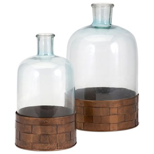 IMAX Worldwide Home Trisha Yearwood Cowboy Glass and Metal Jugs - Set of 2