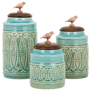 IMAX Worldwide Home Trisha Yearwood Songbird Canisters - Set of 3