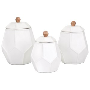 IMAX Worldwide Home Trisha Yearwood Songbird Geometric Canisters - Set of 3
