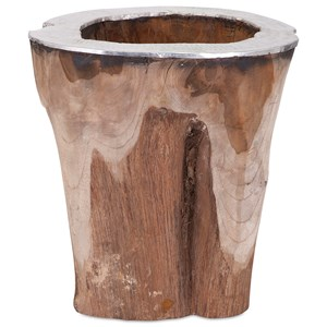 IMAX Worldwide Home Vases Abaco Teak and Aluminum Vase