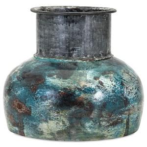 IMAX Worldwide Home Vases Bastilla Small Vase with Metal Neck