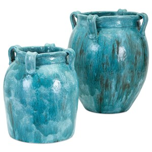 IMAX Worldwide Home Vases Castine Large Teal Vase