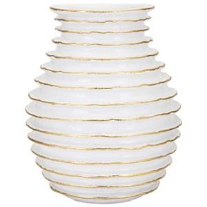 IMAX Worldwide Home Vases Blancos Large Vase