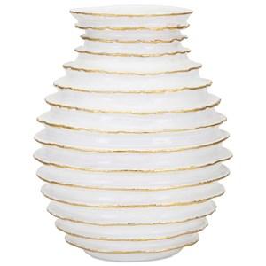 IMAX Worldwide Home Vases Blancos Small Vase