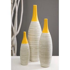IMAX Worldwide Home Vases Andean Multi Glaze Vases - Set of 3