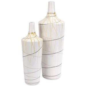 IMAX Worldwide Home Vases Curasso Retro Finish Vases - Set of 2