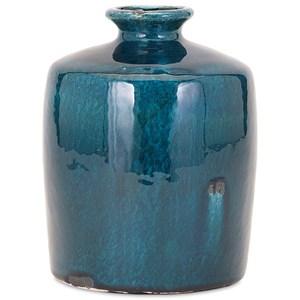 IMAX Worldwide Home Vases Arlo Small Blue Vase