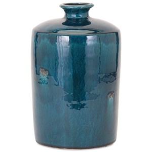 IMAX Worldwide Home Vases Arlo Medium Blue Vase